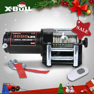 X-BULL 3000LBS 12V Electric Winch Steel Cable UTV Winch ATV Winch 4WD Off Road