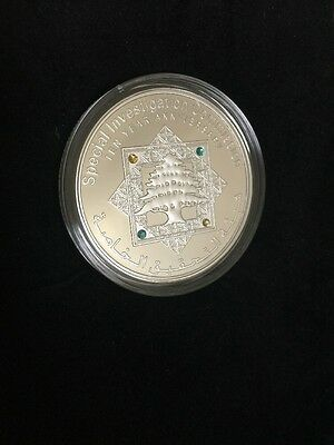 Lebanon Silver Proof UNC Coin 2011 Special Investigation Commission 355/500 Rare