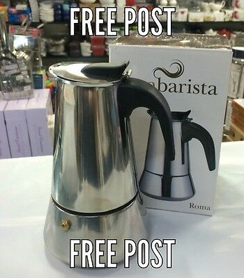 NEW 6 cup Espresso Coffee Maker Stainless Steel Percolator Perculator Stove Top