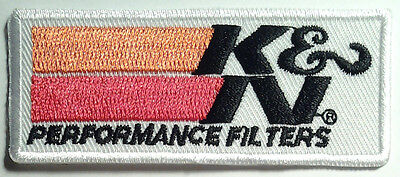 K&N PERFORMANCE AIR FILTERS EMBROIDERED IRON ON PATCH auto racing suit jacket