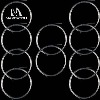 Maxcatch 10Pcs 7.5/9FT 0/1/2/3/4/5/6/7X Tapered Nylon Leader Fly Fishing Leader