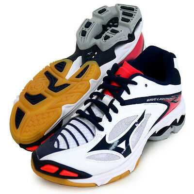 Mizuno Japan Men's WAVE LIGHTNING Z 3 Low Volleyball Shoes V1GA1700 White Pink
