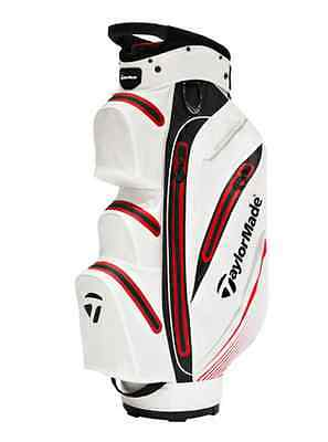 TaylorMade Waterproof Cartbag, white/black//red - Neu 2016