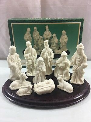 Jade Collection 10 Piece Christmas Nativity Set With Wood Base