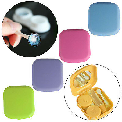 Portable Contact Lens Case Container Travel Kit Set Holder Mirror Box Useful