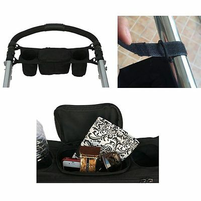 Durable Baby Stroller Accessory Baby Carriage Pram Baby Cup Holder Organizer Bag