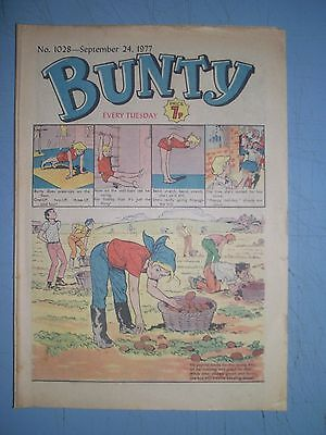 Bunty issue 1028 dated September 24 1977