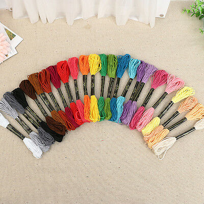 50Pcs Knitting Sewing Skeins Embroidery Thread Cotton Polyester Cross Stitch