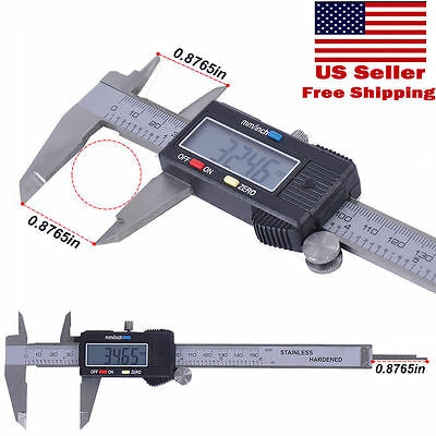 6 inch /150mm Digital Electronic LCD Stainless Ruler Gauge Caliper Micrometer