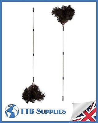 "MULTI PACK Genuine Dustease Premium Ostrich Feather Duster - (x2) 48""-90"""
