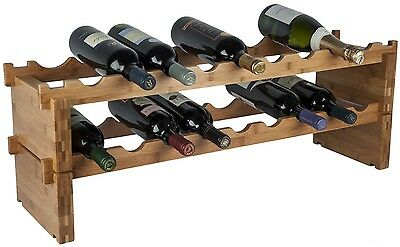 RTA Bamboo Modular Wine Rack Build as you need. No Tools needed