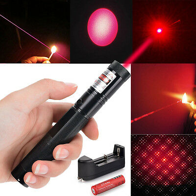 High Power Laser Pointer 532nm 303 Pointer Pen Star Visible Beam+18650+Charger