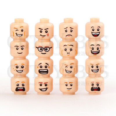 16pcs Custom Cute Face Expression for DIY Minifigures Kids Collection Toys 219A