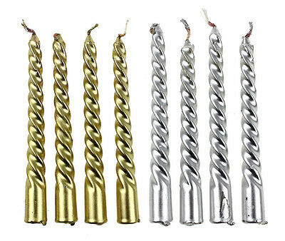 Fab 4 Pcs Taper Spiral Twisted Smokeless Dinner Table Wedding Long Candles Wax