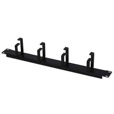 1U Horizontal Cable Management Panel with 4 Hoops
