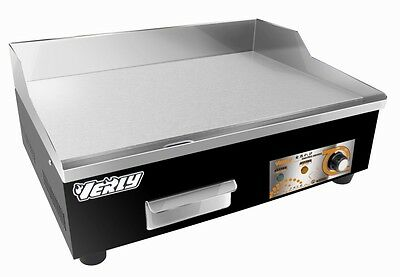 New Electric Steel Griddle Countertop Flat Hotplate 13Amp Plug 55Cm
