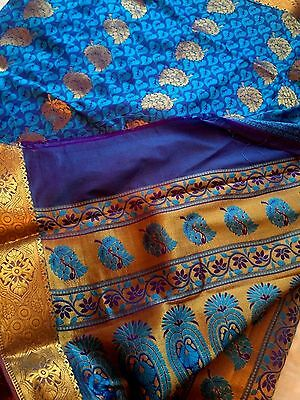 Indian Banarasi Sari / Kanchipuram / Fancy Bridal / Katan Saree 89790