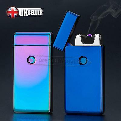 USB Rechargeable Electric LIGHTER Double ARC PULSE Flameless Plasma Torch New