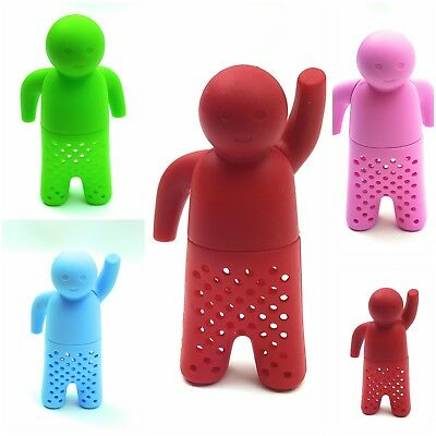Mr Tea Infuser Silicone Loose Tea Leaves Herbal Strainer diffuser spice filter