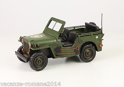 Blechauto -Army Jeep- A Tin Model Of An Army Jeep 29 cm x 13 cm x 14 cm BL 200