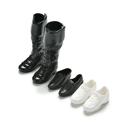 3Pairs Dolls Cusp Shoes Leather Shoes Boots for Ken Doll Barbie Boyfriend ToyESC