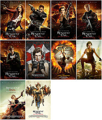 10pc Resident Evil 6:The Final Chapter Promo Card PVC CHARACT Transparent CARD B