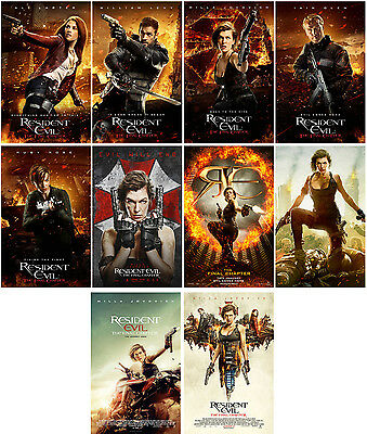 10pcs Resident Evil 6:The Final Chapter Movie Promo Cards Photo Card Stickers B
