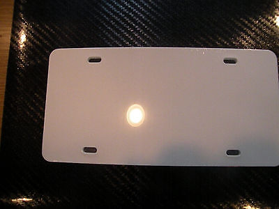 """#P163(2) BLANK 6""""x12"""" PLASTIC LICENSE PLATE  PLATE FOR DECAL VINYL TAG WHITE"""