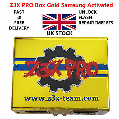 New Z3X PRO Gold Genuine Original Samsung Unlock Flash Tool Box - ALL Models