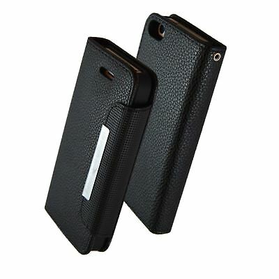 Magnetic 2 in 1 Removable Wallet Case Cover in Black PU Leather - iPhone 5/5s/SE