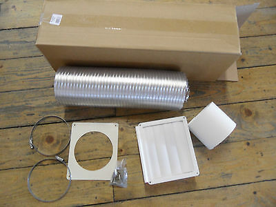 120/125mm Universal aluminium Extraction Vent / Duct Kit