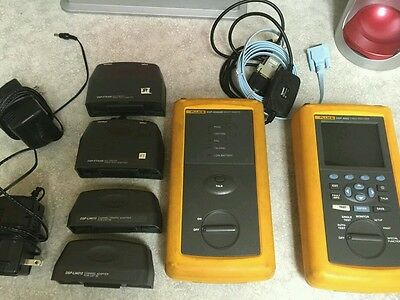 Fluke Networks DSP-4000 Cable Analyzer with CAT5e/Fiber Modules