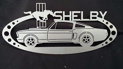 Shelby Mustang Metal Oval Sign with Logo