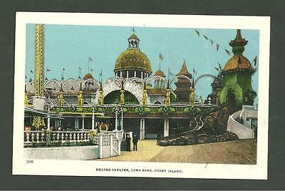 Pre 1910 Unused Postcard Helter Skelter Luna Park Coney Island Brooklyn 3206