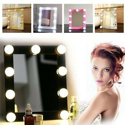 Vanity Lighted Hollywood Makeup Mirrors with Dimmer Stage Beauty Mirror LED Bulb
