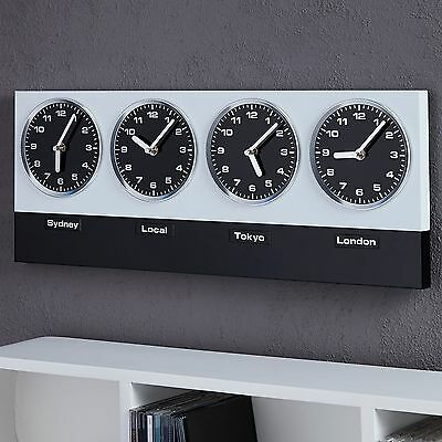 "MODERN WALL CLOCK ""WORLDTIME"" 
