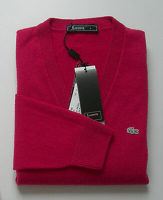 """Superbe Pullover neuf, Col V, 100% cachemire """"Lacoste-Devanlay"""" - T. 4 ou M"""