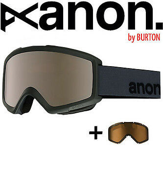 ANON by BURTON Helix with Spare Goggle Schneebrille Stealth Silver Amber / Men