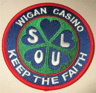 Northern Soul Patch - Wigan Casino - Keep The Faith - Blue - 90Mm Dia