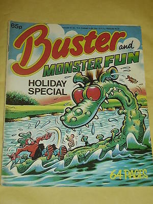 BUSTER AND MONSTER FUN HOLIDAY SPECIAL 1980s (65p) Very Good +