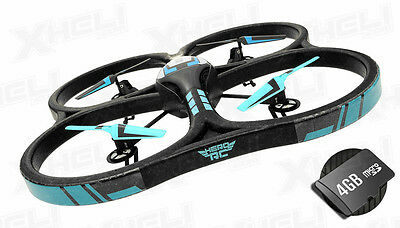 "Hero RC XQ-5 V626 UFO Drone with Camera 4 Channel Quadcopter Large 21.50"" Size"
