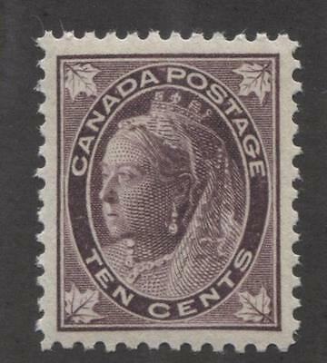 Canada #73 10c Brown Violet 1897-98 Maple Leaf Issue Vert. Wove VF-82 NH