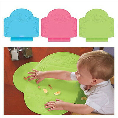 Infant Silicone Slip-Resistant Portable Waterproof  Placemat Table Mat Dishes