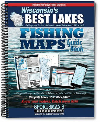 Wisconsin's Best Lakes Fishing Maps Guide Book   2016 - Sportsman's Connection
