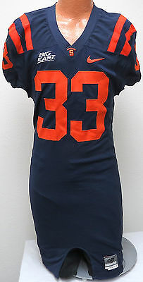 BEN MALJOVEC #33 Syracuse Game Used JERSEY L/42 Nike Football 2006 worn Big East