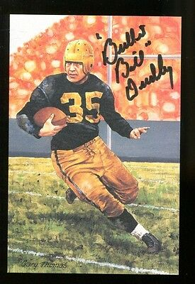 Bullet Bill Dudley Signed Goal Line Art GLAC Autographed Steelers 29319