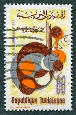 TUNISIA 1973 60m multicoloured SG781 used NG World Telecommunications Day #W2
