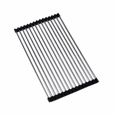 Extra Long 470mm Stainless Steel Kitchen Sink Roller Drainer Tray Roll Mat