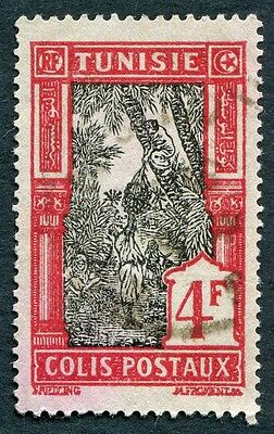 TUNISIA 1926-41 4f black and deep red SGP158 used NG PARCEL POST! #W2