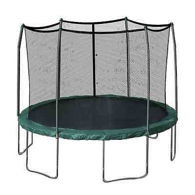 Skywalker Trampolines 12-Feet Round and Enclosure Combo with Spring Pad, Green
